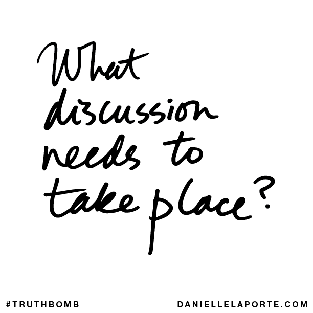 What discussion needs to take place?
